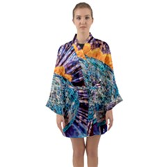 Multi Colored Glass Sphere Glass Long Sleeve Kimono Robe by Samandel