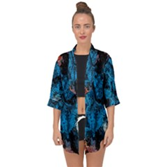 Abstract Fractal Magical Open Front Chiffon Kimono by Samandel