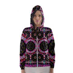 Decorative Candy With Soft Candle Light For Love Hooded Windbreaker (women) by pepitasart