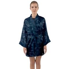 Retro Space Pattern Long Sleeve Kimono Robe by JadehawksAnD