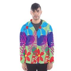 Decoration Decor Pattern Hooded Windbreaker (men) by Simbadda