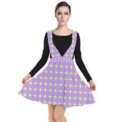 Pastel Mod Purple Yellow Circles Other Dresses by BrightVibesDesign