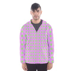 Pastel Mod Pink Green Circles Hooded Windbreaker (men) by BrightVibesDesign