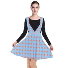 Pastel Mod Blue Orange Circles Other Dresses by BrightVibesDesign
