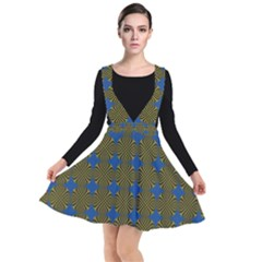 Mod Yellow Blue Circles Pattern Other Dresses by BrightVibesDesign