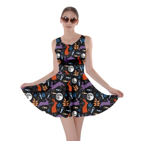 Hare Moon Skater Dress