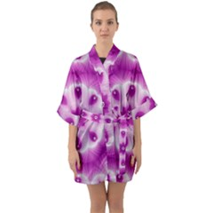 Pattern Abstract Background Art Quarter Sleeve Kimono Robe by Simbadda