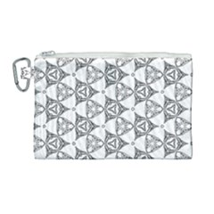 Black And White Pattern Canvas Cosmetic Bag (large) by Simbadda