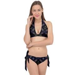 Seamless Background Abstract Vector Tie It Up Bikini Set