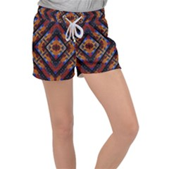 Kaleidoscope Art Pattern Ornament Women s Velour Lounge Shorts by Simbadda