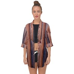 Wood Boards Wooden Wall Wall Boards Open Front Chiffon Kimono by Simbadda