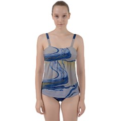 Sun And Water Twist Front Tankini Set by WILLBIRDWELL