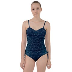 Retro Space Pattern Sweetheart Tankini Set