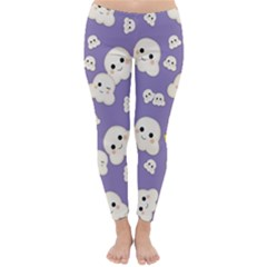 Cute Kawaii Popcorn Pattern Classic Winter Leggings by Valentinaart