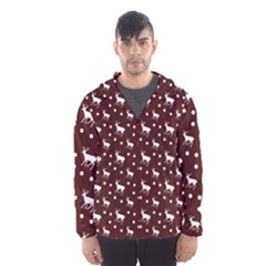 Deer Dots Red Hooded Windbreaker (men) by snowwhitegirl