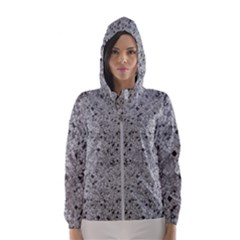 Cracked Texture Abstract Print Hooded Windbreaker (women) by dflcprints