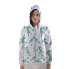 Bold And Brash Pattern Hooded Windbreaker (women) by Valentinaart