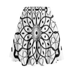 Textura Model Texture Design Lines High Waist Skirt