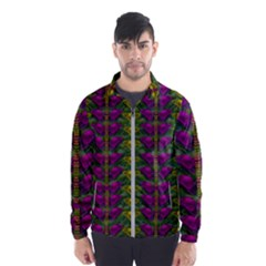 Butterfly Liana Jungle And Full Of Leaves Everywhere Windbreaker (men) by pepitasart