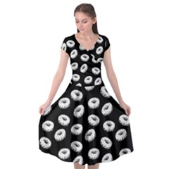 Donuts Pattern Cap Sleeve Wrap Front Dress by Valentinaart