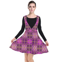 Mod Pink Purple Yellow Square Pattern Other Dresses by BrightVibesDesign