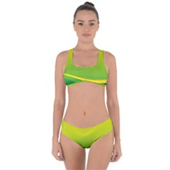 Background Color Fresh Beautiful Criss Cross Bikini Set by Simbadda