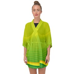 Background Color Fresh Beautiful Half Sleeve Chiffon Kimono by Simbadda