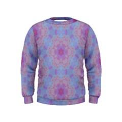 Pattern Pink Hexagon Flower Design Kids  Sweatshirt