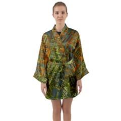 Art 3d Windows Modeling Dimension Long Sleeve Kimono Robe by Simbadda