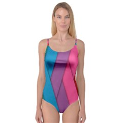 Abstract Background Colorful Strips Camisole Leotard  by Simbadda
