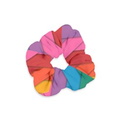 Abstract Background Colorful Strips Velvet Scrunchie by Simbadda