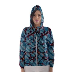 Marble Rock Comb Antique Hooded Windbreaker (women) by Simbadda