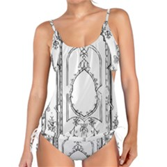 Leighton Floriated Antique Scroll Tankini Set by Simbadda
