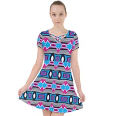 Blue Pink Shapes Rows Jpg                                                    Caught In A Web Dress