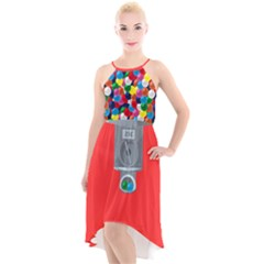Gumball3 High Low Halter Chiffon Dress  by Wanni