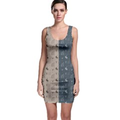 Patchwork Botanical Bodycon Dress by chihuahuadresses