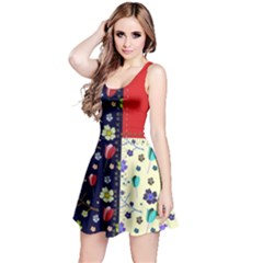 Patchwork Floral Reversible Sleeveless Dress by chihuahuadresses