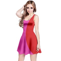 Pink And Red Reversible Sleeveless Dress by chihuahuadresses