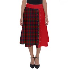 Tartan Patchwork Perfect Length Midi Skirt by greenthanet