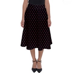 Polka Dot Plaid Perfect Length Midi Skirt by greenthanet