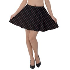 Plaid Polka Dots Velvet Skater Skirt by greenthanet