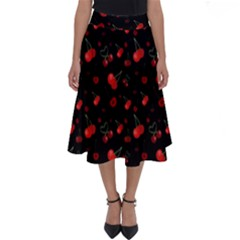 Cherries Perfect Length Midi Skirt Cherry by greenthanet