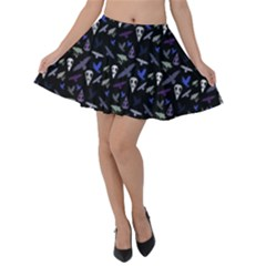 Ravens Velvet Skater Skirt by greenthanet