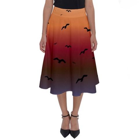 Sunset Ombre Perfect Length Midi Skirt
