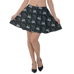 Swans Velvet Skater Skirt by greenthanet
