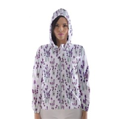 Flower Pattern Pattern Design Hooded Windbreaker (women) by Celenk