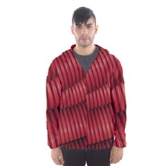 Tube Plastic Red Rip Hooded Windbreaker (men) by Celenk