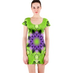 Abstract Background Art  Pattern Short Sleeve Bodycon Dress