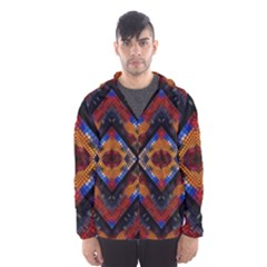 Kaleidoscope Art Pattern Ornament Hooded Windbreaker (men) by Celenk