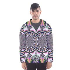 Pattern Abstract Background Art Hooded Windbreaker (men) by Celenk